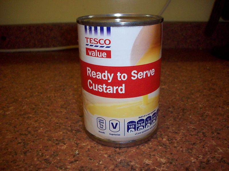 Can of custard