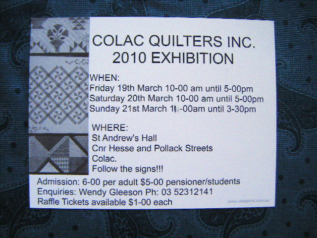 Colac quilters exhibition