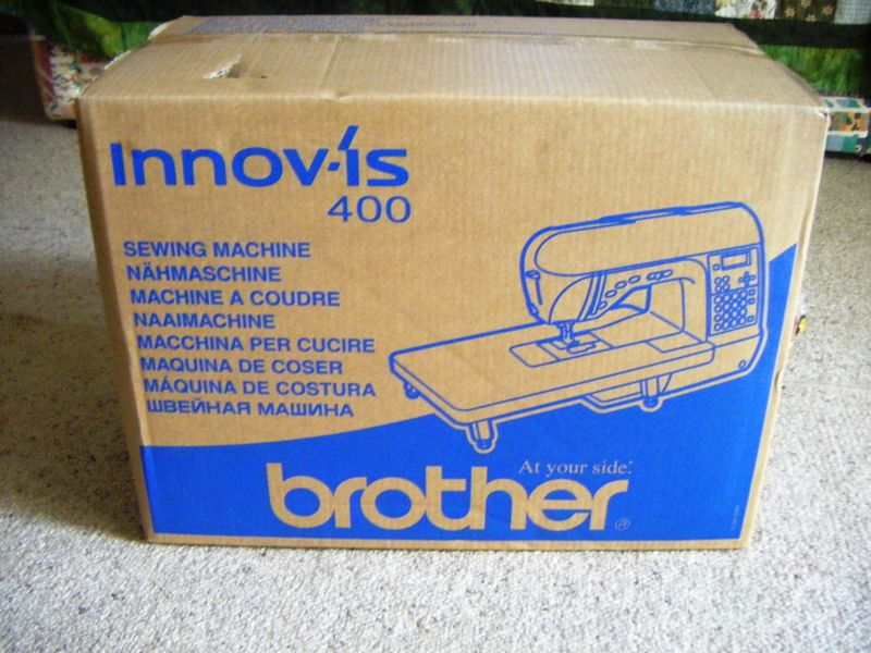 New sewing machine in box