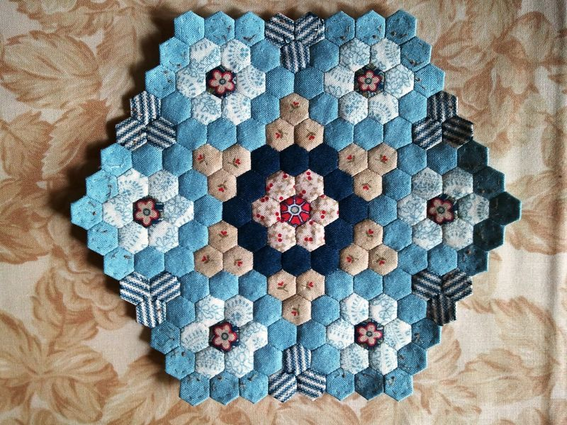 Hexagon quilt 19.12.2011
