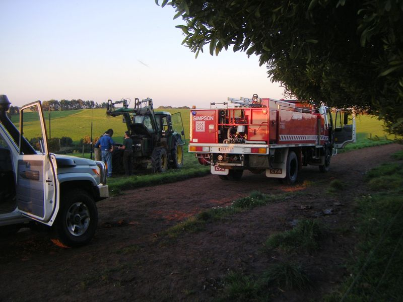 Tractor with truck 2