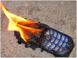 Phone fire