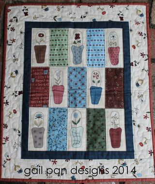 Gail's Baskets in Bloom mini quilt