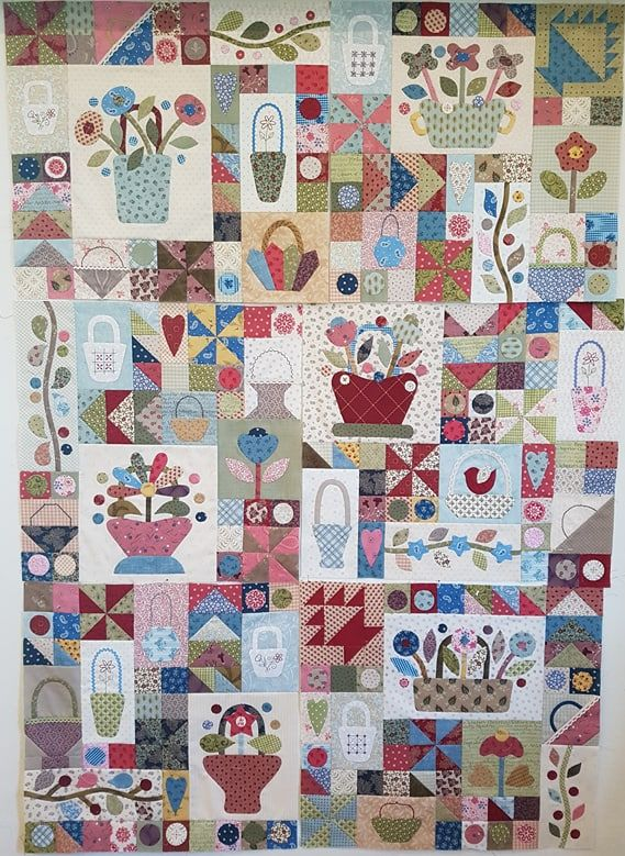 Sopwell Ladies Basket Society  Block of the Month Quilt