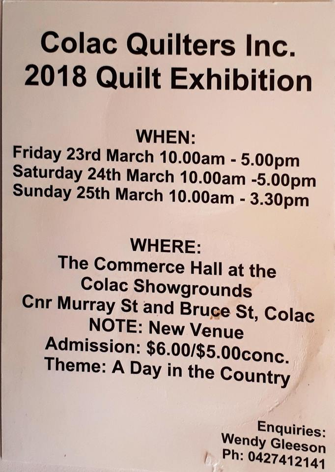 Colac Quilt Show