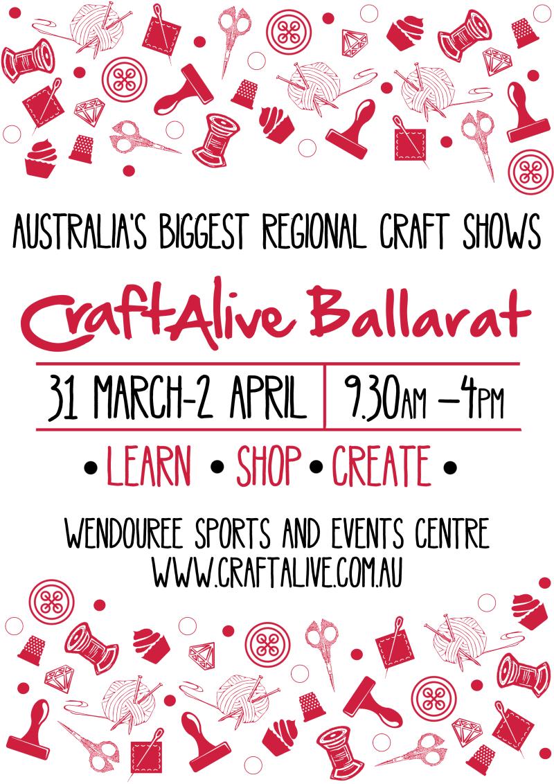 A4 poster Craft Alive Ballarat