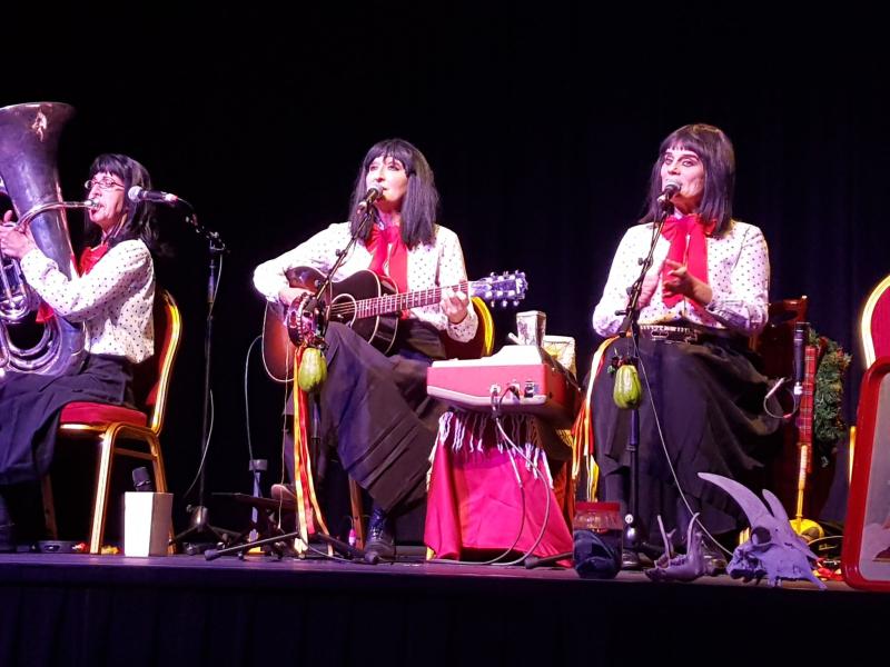 The Kransky Sisters stage