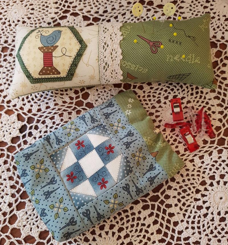 Pin cushion and snap bag set 2