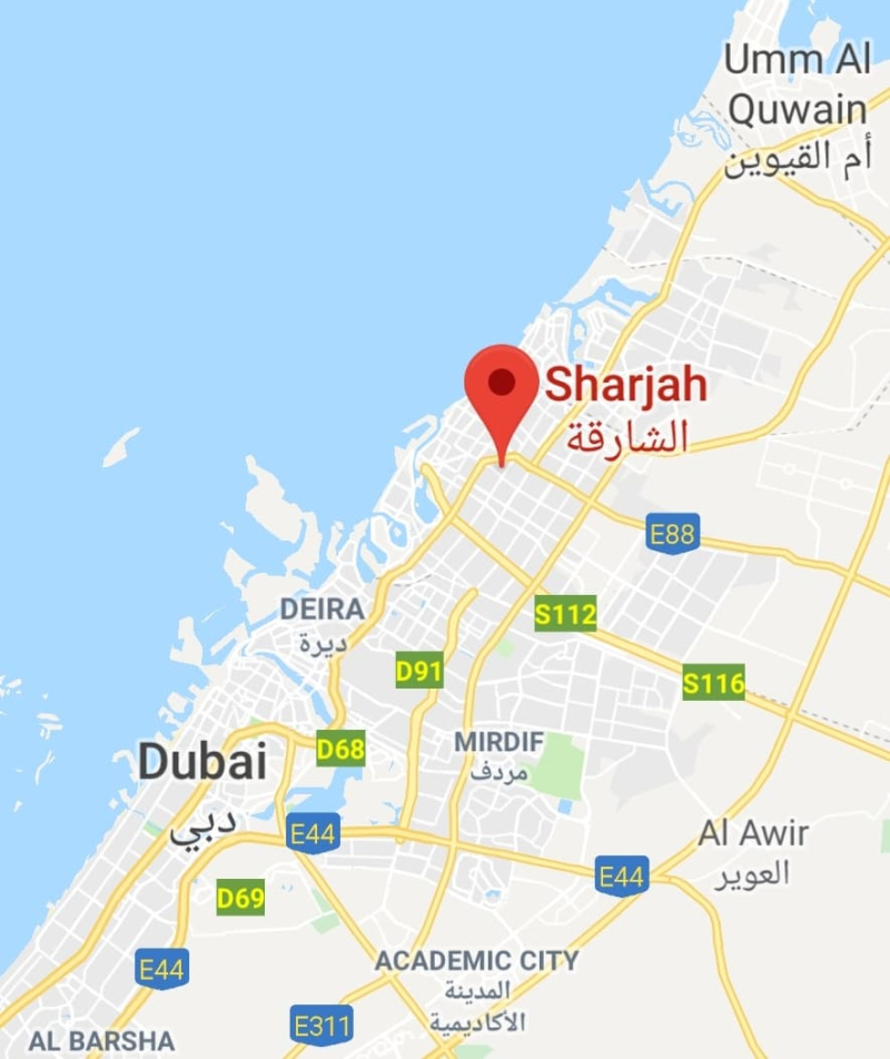 Sharjah map