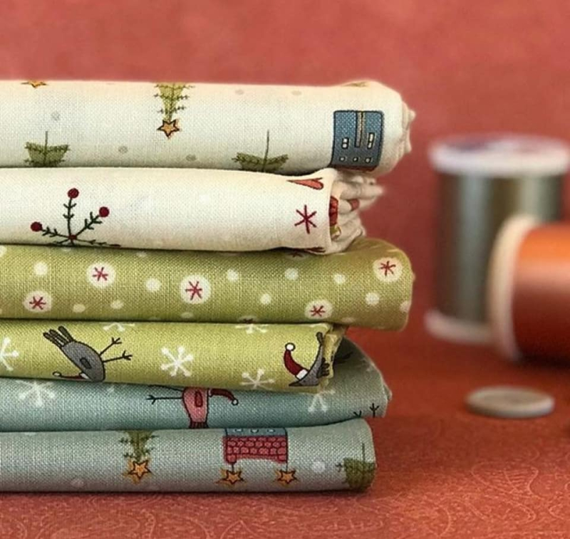 Home for Christmas fabric