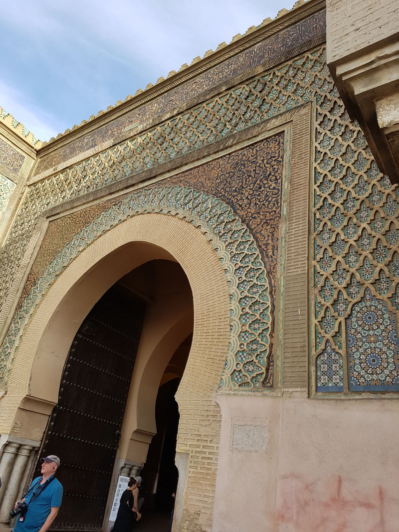 Meknes Bab Mansour close up
