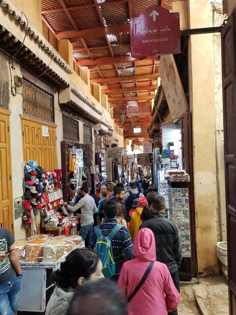 Fez medina laneway