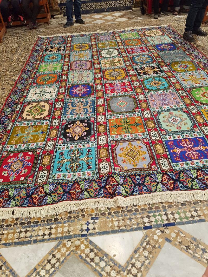 Fez medina carpets