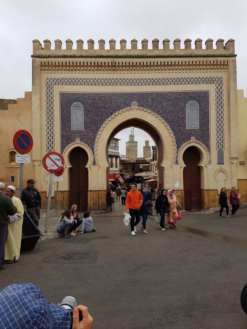 Fez medina blue gate