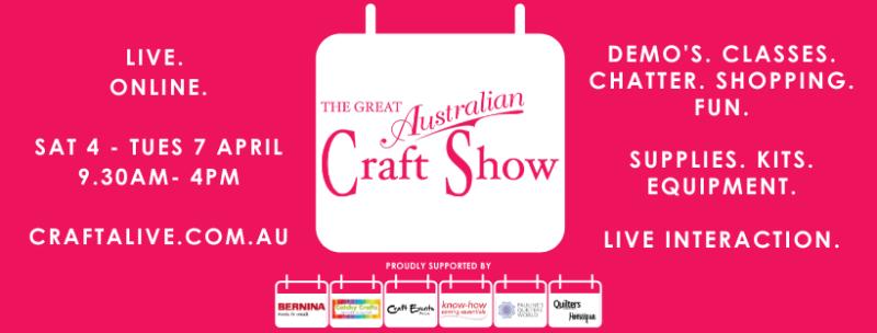 Great Australian craft show banner