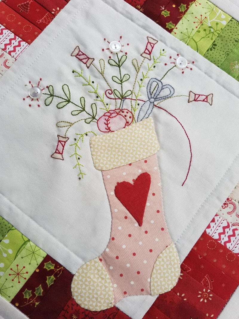 Stitchers stocking closeup