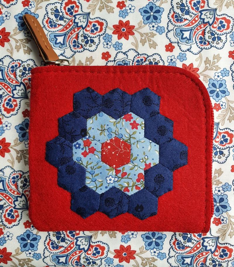 Hexagon Felted Purse
