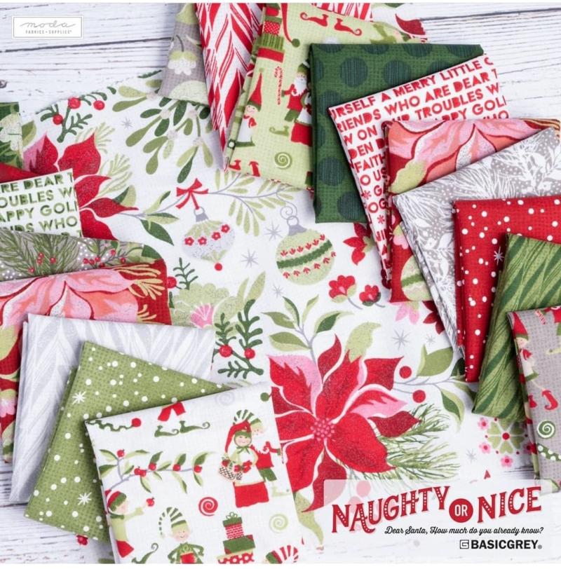 Naughty or Nice fabrics