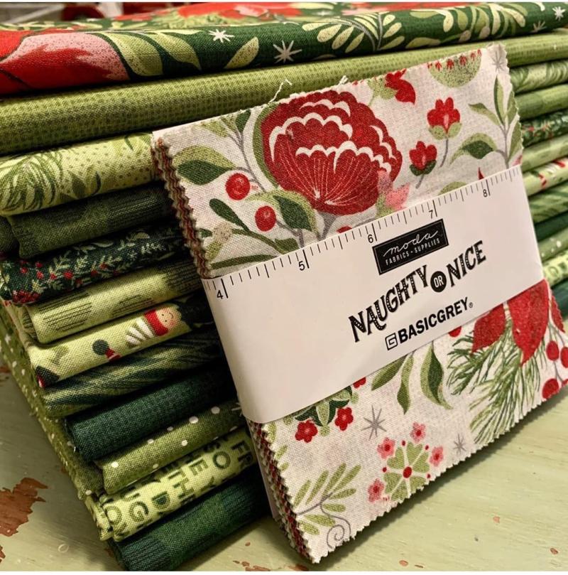 Naughty or Nice fabric