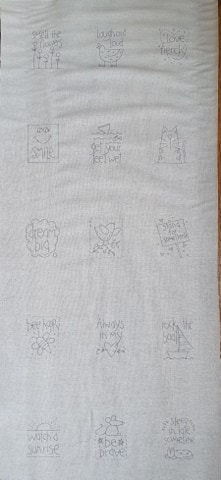 A letter to my daughter stitchery panel