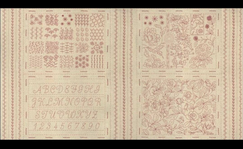Broderie Embroidery Sampler rouge